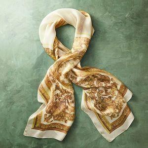 {The Met} Versailles Gilt Shawl 100% Silk Gold
